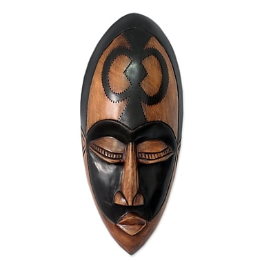 Novica Handcraffted Beauty and Faith African Wood Mask Wall D cor