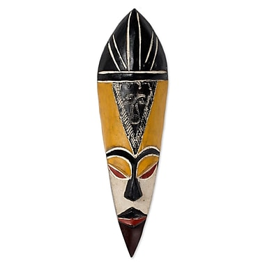 Novica Gonja Protector from Evil Fair Trade Wood Mask Wall D cor