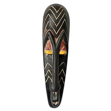 Novica Gabonese Wood African Mask Wall D cor