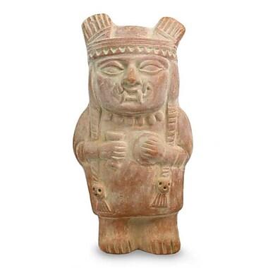 Novica Cuchimilco Protector Ceramic Sculpture