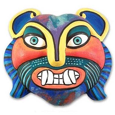 Novica Rainbow Cat Mask Wall D cor