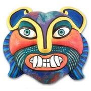 Novica Rainbow Cat Mask Wall D cor