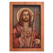 Novica Handmade Christianity Wood Relief Panel Wall D cor