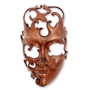 Novica Modern Wood Mask Wall D cor