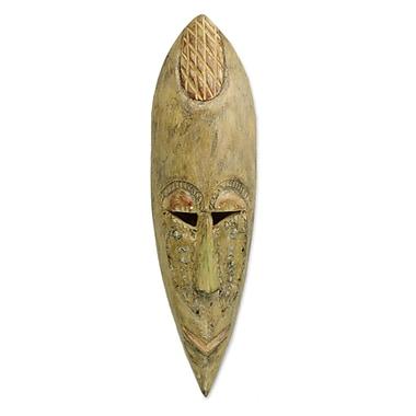 Novica Fair Trade African Wood Mask Wall D cor