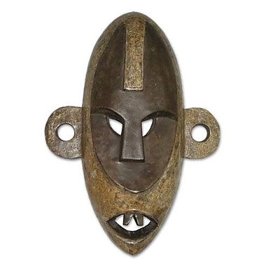 Novica Congolese Wood African Mask Wall D cor