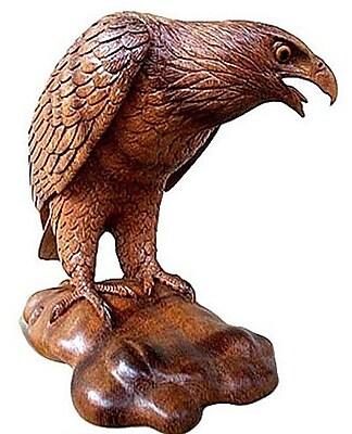 Novica Mighty Eagle Figurine