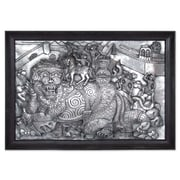 Novica Defeating the Giant Aluminum Repousse Panel Wall D cor
