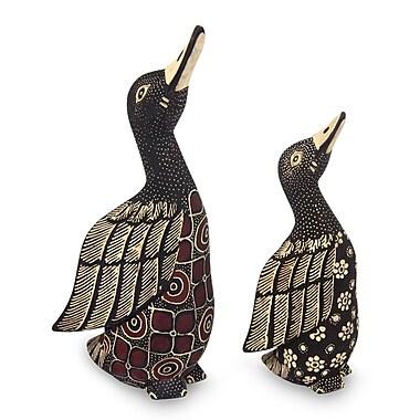 Novica 2 Piece Unique Wood Bird Figurine Set