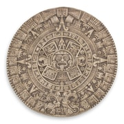 Novica Fair Trade Archaeological Ceramic Aztec Calendar Wall D cor; Gray