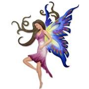 Novica Alejandro de Esesarte Sapphire Fairy Sapphire Fairy Steel Wall Decor