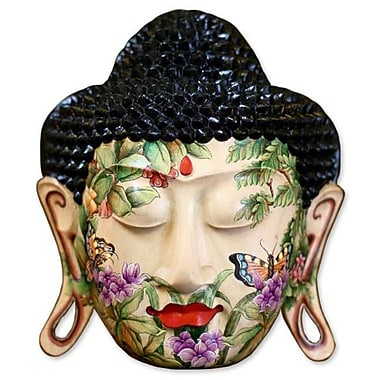 Novica Gung Gus Morning Glory Crocodile Wood Mask Wall Decor