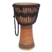 Novica Samuel Coleman Decorative Making Music Tweneboa Wood Djembe Drum by