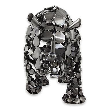 Novica Eco-Friendly Recycled Metal Rhinoceros Figurine