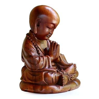 Novica Unique Buddhism Wood Figurine