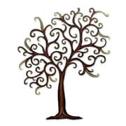 Novica Unique Leaf And Tree Steel Wall D cor