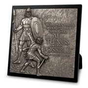 LighthouseChristianProducts Moments of Faith David and Goliath Sculpture Plaque