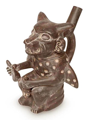 Novica Moche Cutthroat Ceramic Figurine