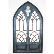 MyAmigosImports Gothic Double Architectural Window Wall Decor; Turquoise