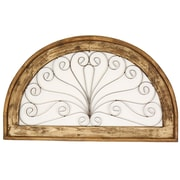 MyAmigosImports Half Moon Architectural Wall Decor; Antique White