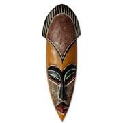 Novica Abdul Aziz Mohamadu Protect The Jungle African Wood Mask Wall Decor
