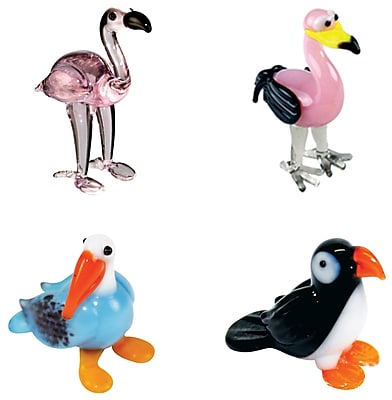 4 Piece Miniature Pinky Flamingo, Ming Flamingo,