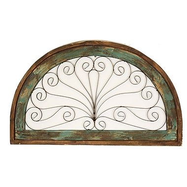 MyAmigosImports Half Moon Architectural Wall Decor; Turquoise