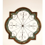 MyAmigosImports Hacienda Architectural Window Wall Decor; Turquoise