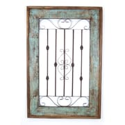 MyAmigosImports Spanish Large Architectural Window Wall Decor; Turquoise