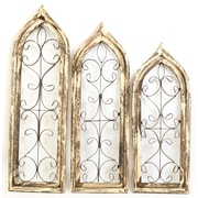MyAmigosImports Gothic 3 Piece Architectural Window Wall Decor Set