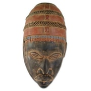 Novica Victor Yao Delanyo Traditional Yoruba Headgear Sese Wood Mask Wall Decor