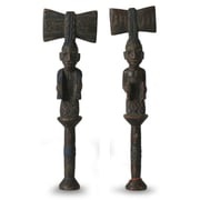 Novica Hand Carved Wood Sculpture (Set of 2)