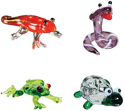 Looking Glass Figurines 4 Piece Miniature Gecko,