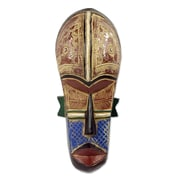 Novica Artisan Crafted Sese Wood Mask Wall D cor