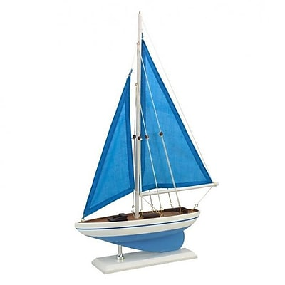 Handcrafted Nautical Decor Wooden Model Sailboat