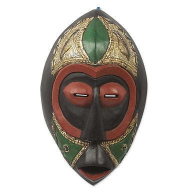Novica Artisan Crafted Brass Embellished Mask Wall D cor