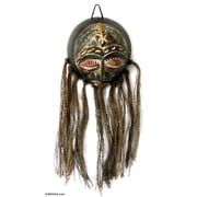 Novica African Dried Calabash Mask Wall D cor