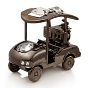 MatashiCrystal Charcoal Metal Plated Golf Cart