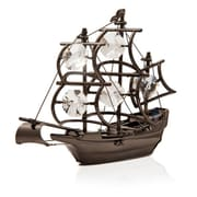 MatashiCrystal Charcoal Metal Plated Beautiful Model Ship