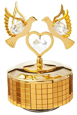 MatashiCrystal Love Doves Music Box Figurine