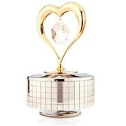 MatashiCrystal Heart Music Box Figurine