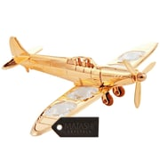 MatashiCrystal 24K Gold Plated Propeller Airplane