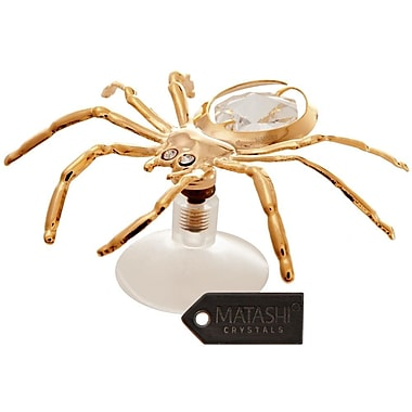MatashiCrystal 24K Gold Plated Crystal Studded Spider Figurine