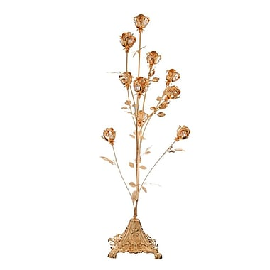 MatashiCrystal 24K Gold Plated Crystal Studded 10 Piece Rose Bouquet