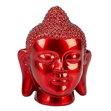 IMPULSE! Happy Buddha Figurine; Red