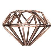 Home Essentials and Beyond Metal Bronze Diamond Sculpture