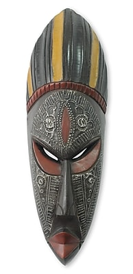 Novica Ashanti Donkor Hand Carved African Mask Wall D cor