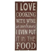 Cheungs I Love Cooking w/ Wine Sometimes Wall D cor