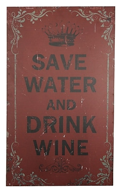 Cheungs Save Water and Drink Wine Wall D cor