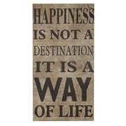 Cheungs Happiness Is Not a Destination, It Is a Way of Life Wooden Wall D cor